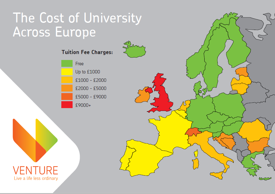 Venture tutition fee map
